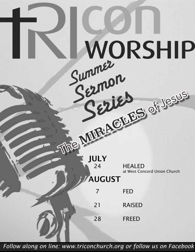 9:45a Worship @ West Concord Union Church – Summer Sermon