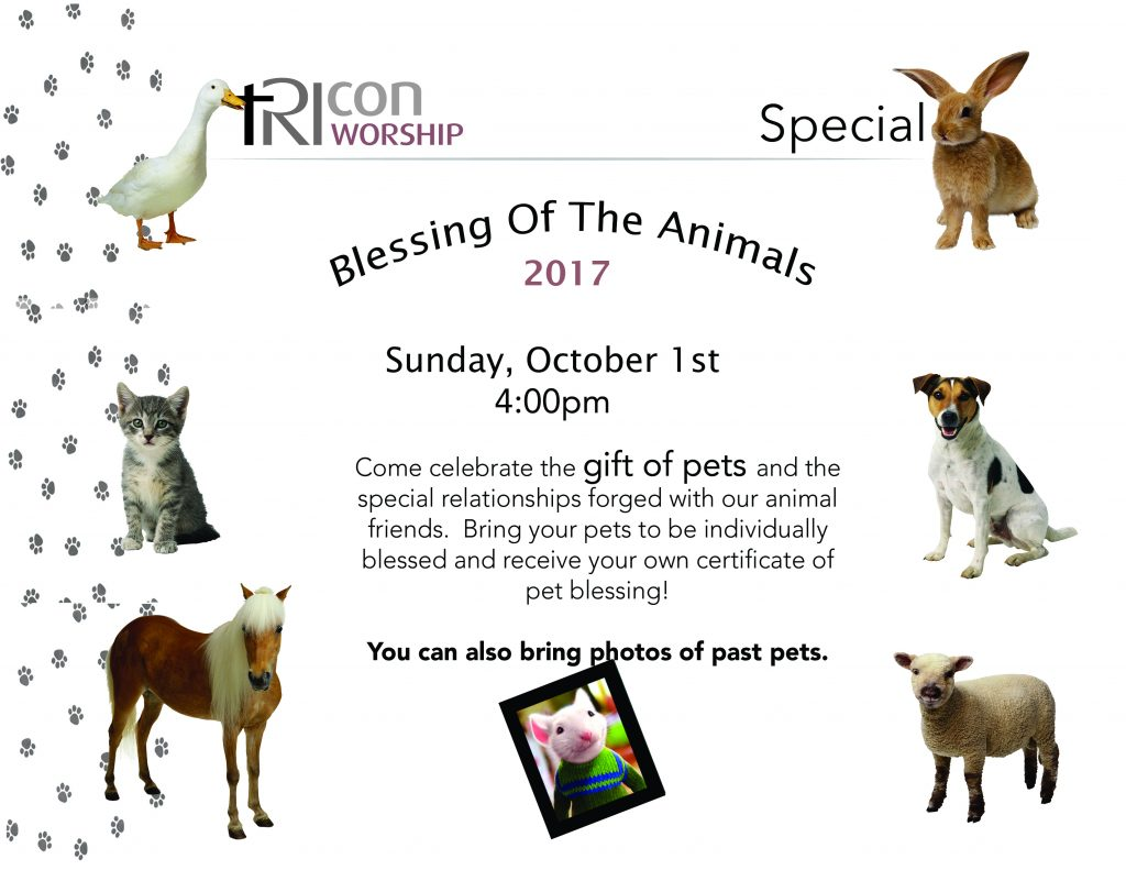 Blessing Of The Animals 4pm Tricon Church
