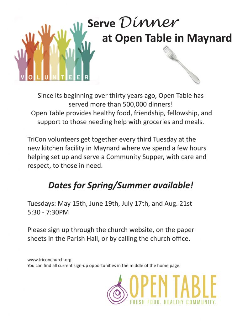 SIGN UP Serve Dinner At Open Table Rd Tuesday Of Every Month - Open table dinner